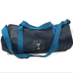 Lululemon Athletica Bag Yoga Gym Black Blue Zipper